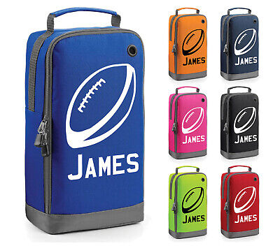Personalised Childrens Rugby Ball Boot Bag Sport Kids Sports Pe Kit Gift