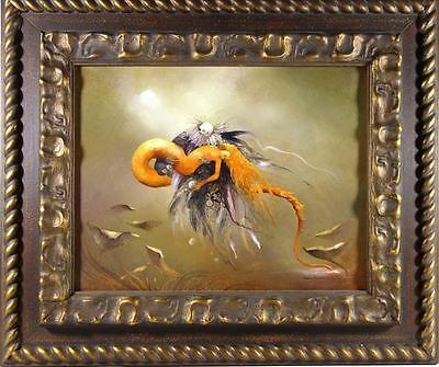 Original Signed Oil Painting by Anne Bachelier 13 1/2 X 10