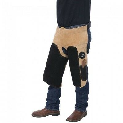 Tough 1 Professional Deluxe Leather Farrier Apron with Pockets and Magnets Tan