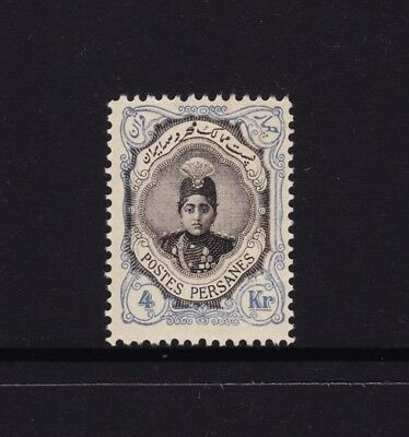 Persia 1911 Postage Stamp 4 Krans Ahmed Mirza Black and Blue MNH