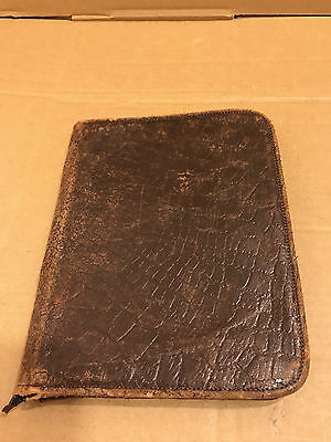 Vintage Animal Skin, Zipped Large Wallet / Document Holder - Please See Pictures