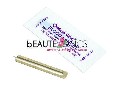 200 Stainless Steel Sterile Facial Lancets with Sharp Point - #MA7011 x1
