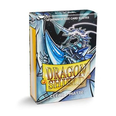 YUGIOH Dragon Shield Mini 60 JAPANESE Sleeves MATTE - CLEAR - Small Size - Yugi