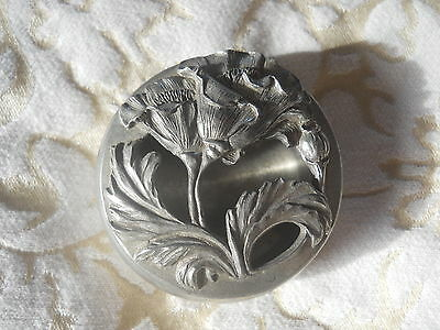 Multi Purpose Art Nouveau Style Canadian Seagull Pewter Brooch Pin Trinket Box