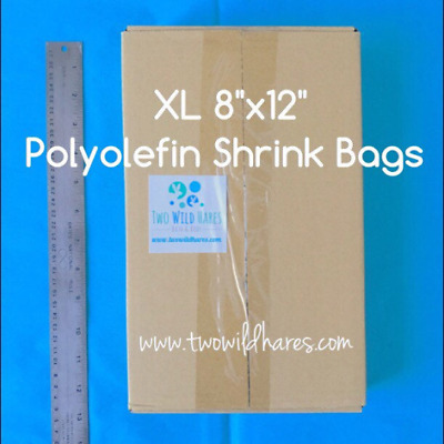 "500- XL 8x12"" POLYOLEFIN (Smell Thru) Shrink Bags, For Small Gift Sets & XL Item"