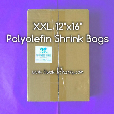 """250- XXL12x16"""" POLYOLEFIN (Smell Thru) Shrink Bags, For Gift Sets, USA Seller"""