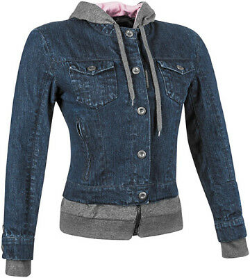 Speed and Strength Women's Fast Times Textile Jacket Blue Lg *871180