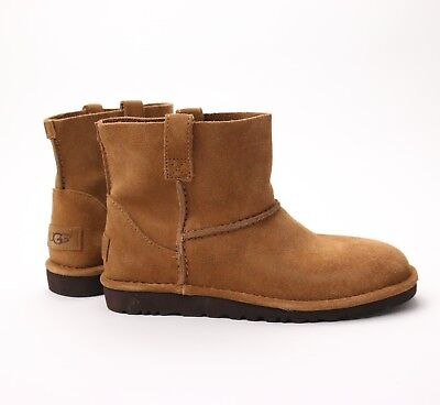 89c85b2b37d UGG AUSTRALIA CLASSIC Unlined Mini Chestnut Suede Ankle Boots US 11 NEW!