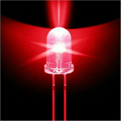 100PCS 5mm Red Round High Power Super Bright Water Clear LED Leds Lamp Bulb