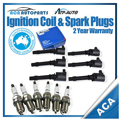 Ignition Coil and Spark plugs for ford FALCON XR6 FAIRLANE BA BF TERRITORY SX SY
