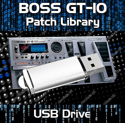 Boss Gt-10 Pre-Programmed Gt10 Tone Patches Download Guitar Effects Pedals Cd