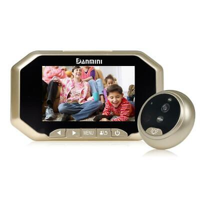 "4.3"" LCD Peephole Camera Viewer Door Eye Doorbell Home Security 8 Big Function"