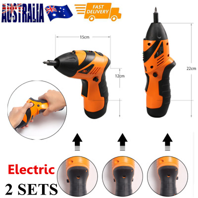 45in1 Electric Drill Driver Wireless Cordless Screwdriver Bits - 2 SETS
