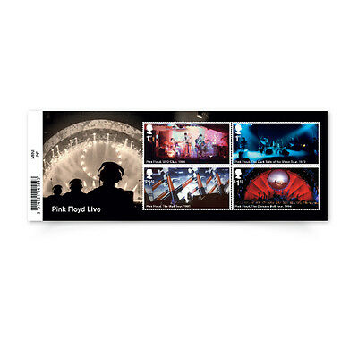 UK Pink Floyd Stamp Sheet MNH 2016