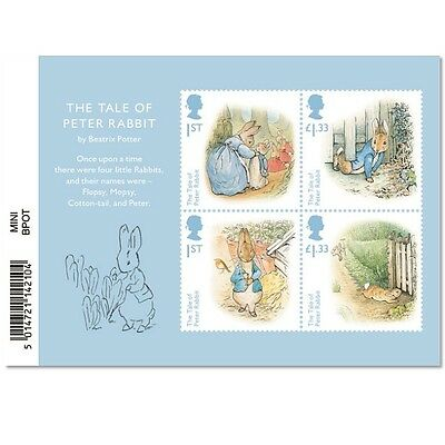 UK BEATRIX POTTER Stamp Sheet MNH 2016