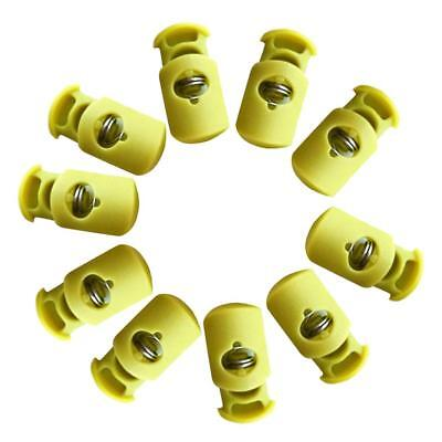 10pcs Plastic Toggle Barrel Cord Lock Stopper Spring End Stop - Single Hole