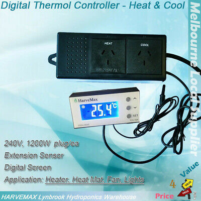 Hydroponics LED Smart Temperature Controller Thermostat Auto Cool & Heat Shift