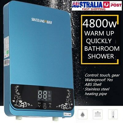 4800w 220V Electric Tankless Hot Water Heater Instant Shower Indoor Panel System