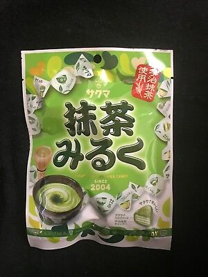 Japanese Sakuma Macha(Green tea) Milk Taste Hard Candy 1,3,5pack free shipping!
