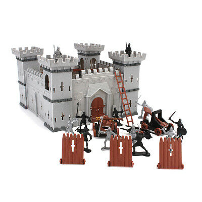 AU Castle Medieval Toy Knight Catapult Soldiers Infantry Figures Play Set New