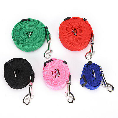 1.5-6m Durable Pet Dog Puppy Training Nylon Recall Lead Leash Traction Rope kd@