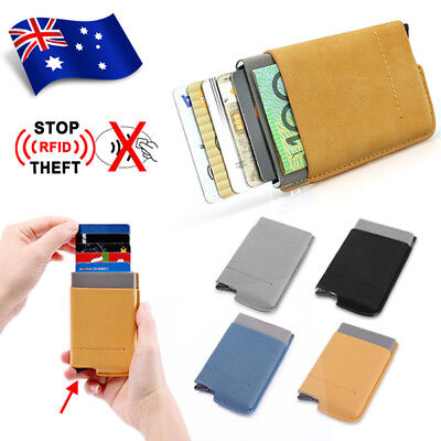 RFID Blocking Aluminum Slim Wallet ID Credit Card Holder Case Money Clip