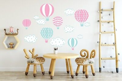 Wall stickers Kids Baby Children's Balloons Balloon stickers Hot Air Cloud Decal