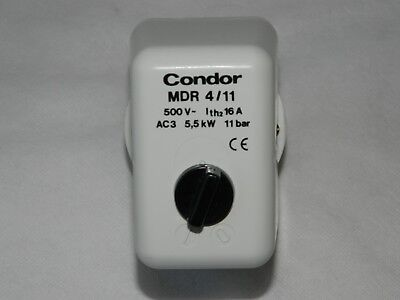 Condor MDR 4/11 Pressure Switch, 500V, 3 Phase, 5.5KW, 11 Bar [3R5D]