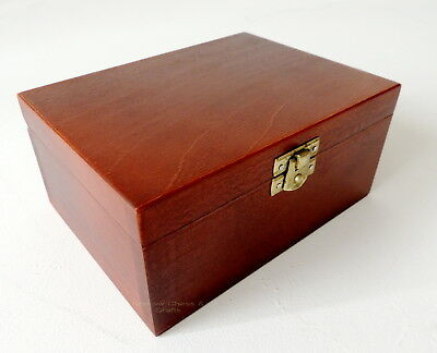 Brand New Small Handmade Wooden Storage Box For Chess Pieces