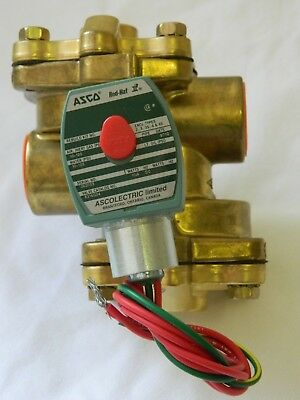 Asco Red Hat Pilot Operated Air And Water 3 Way Solenoid Valve 24DC [3R5D]