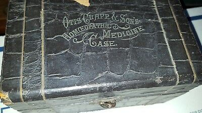 1870S Antique Vintage Otis Clapp & Sons Homeopathic Medical Case Leather