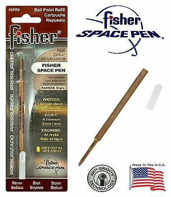 Sensa Brown Medium Pt Ballpoint Refill New In Pack SPR8 Fisher Space Pen