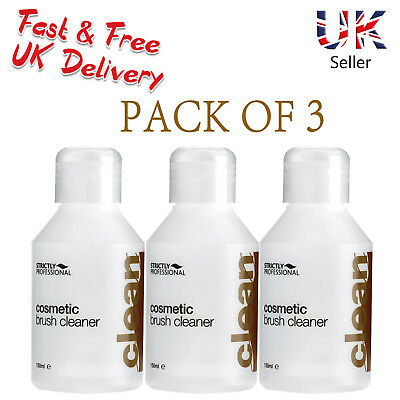 3x Strictly Professional Cosmetic Brush Cleaner Removes Makeup - 150ml SPB0120x3