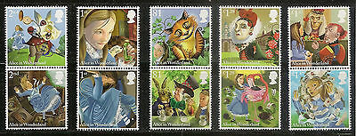 UK Alice's Adventures in Wonderland stamp set MNH 2015