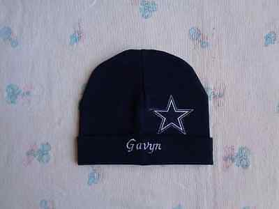 Dallas Cowboys Personalized Baby Hat (0-2 year)