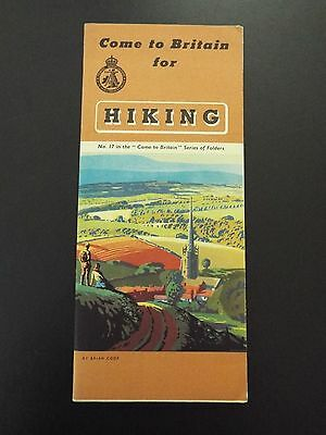Come to Britain for Hiking Vintage Brochure 1939