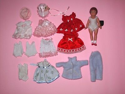 "Tonner Effanbee - 5"" Wee Patsy Doll & Clothes LOT"
