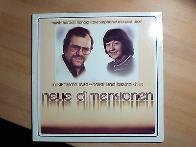 "12"" LP - Herbert Henggl , Stephanie Morgen-Wolf - Neuen Dimensionen (12 Song)"