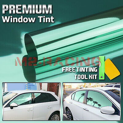 """20""""x120"""" Roll Window Mirror Chrome Green Tint Film Car Home Office Glass Privacy"""