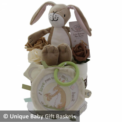 Guess How Much I Love You Nappy Cake with 2 Toys Baby gift basket/hamper unisex