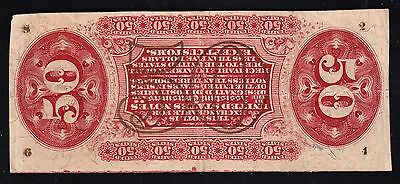 US 50c Justice Fractional Currency FR 1357 w/ Inverted Reverse Engraving VF-XF