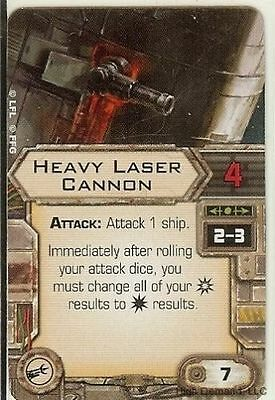 X-Wing Miniatures Heavy Laser Cannon Upgrade Card