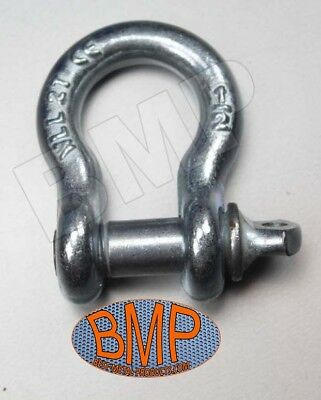 """(4) 1/2"""" Screw Pin Anchor Shackle Clevis Rigging Bumper Jeep Of Road 0900131"""