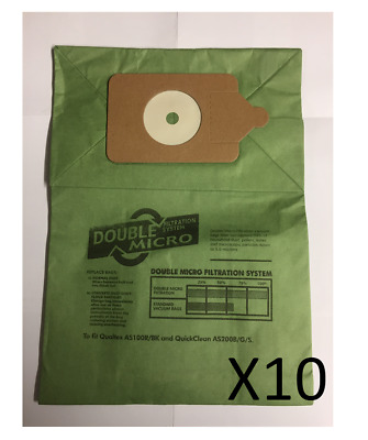 10 x Vacuum Cleaner Double Layer Dust Bags For Numatic Henry Hoover