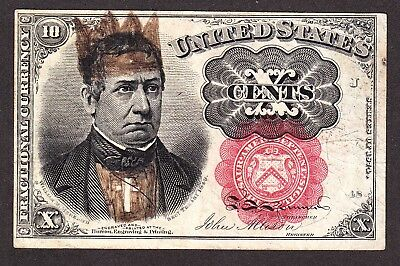 """US 10c Satirical """"Pope"""" Fractional Currency Note 5th Issue Pos J-48 FR 1266 VF+"""