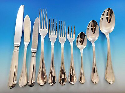 Oceana by Christofle Silverplated Flatware Set for 12 Service 136 pcs Massive