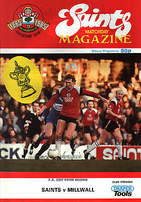 1985/86 Southampton v Millwall, FA Cup, PERFECT CONDITION