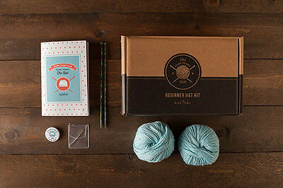 NEW Knitting Kit Learn to Knit Hat Merino+ silk yarn