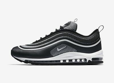New Nike Men's Air Max 97 Ultra '17 Shoes (918356-001) Black/Pure Platinum-Anthr