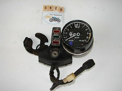 Kawasaki Z400 tachometer with centre console, brackets and loom
